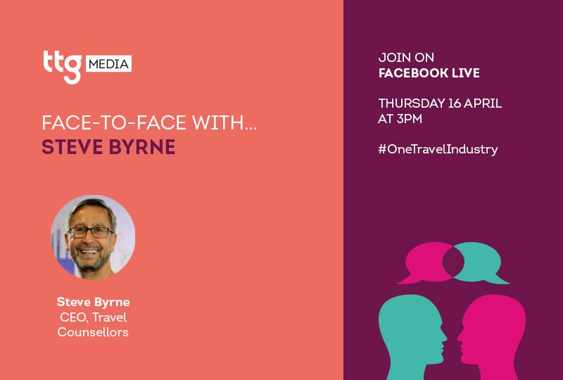 Steve Byrne will join TTGs Face to Face interview on Thursday 16 April