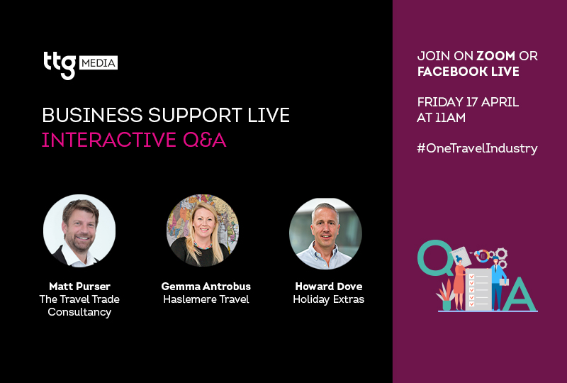 TTGs third Business Support Live session takes place Friday 17 April