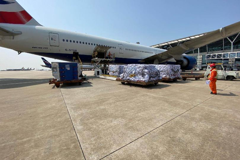 British Airways loads aircraft with NHS supplies