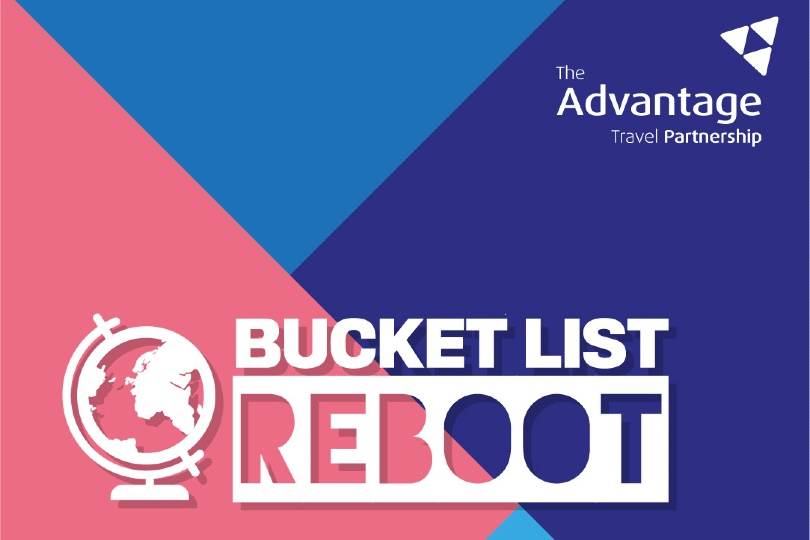 The #BucketListReboot campaign logo by Advantage