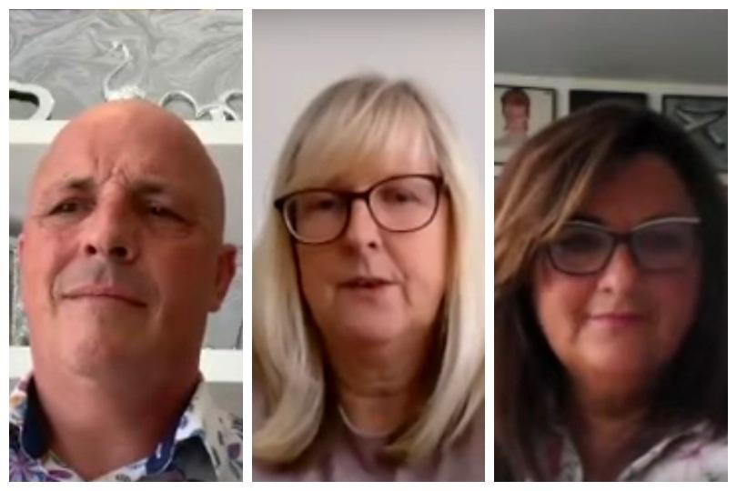 Simon Morgan, Tina Nason, Joanne Dooey