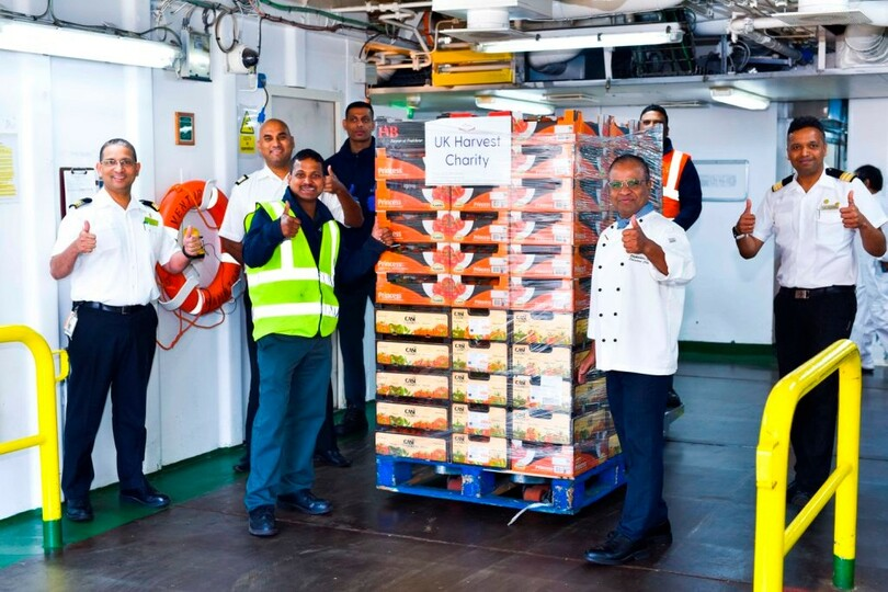 More than eight tons of fresh produce were given to charities, homeless centres, refuges and youth centres