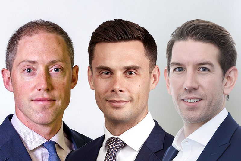 L-r Harry Stoakes, Bobby Fletcher and Martin Alcock