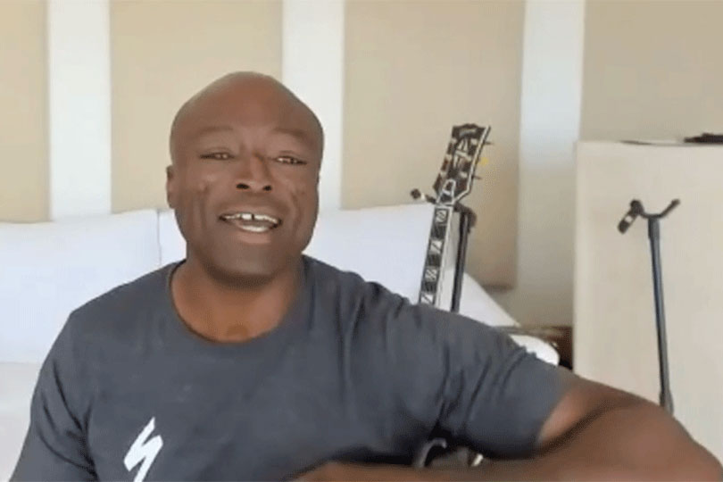 Seal sings for agents during webinar