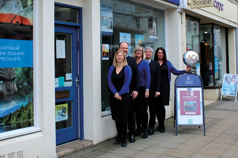Carrick Travel's Leamington Spa branch is among seven transferring to Midcounties