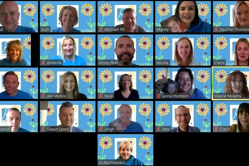 Agents are being asked to share their #CheesyGrin to raise money
