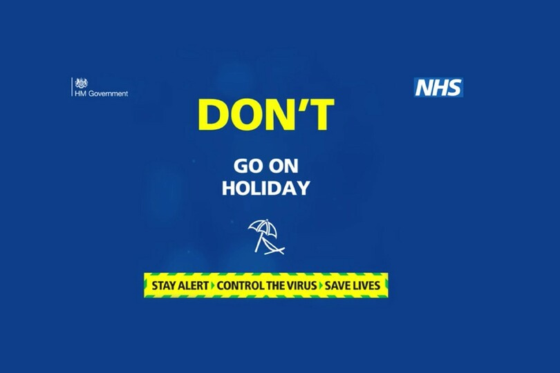 Govt 'don't go on holiday' ad leaves trade 'gobsmacked'