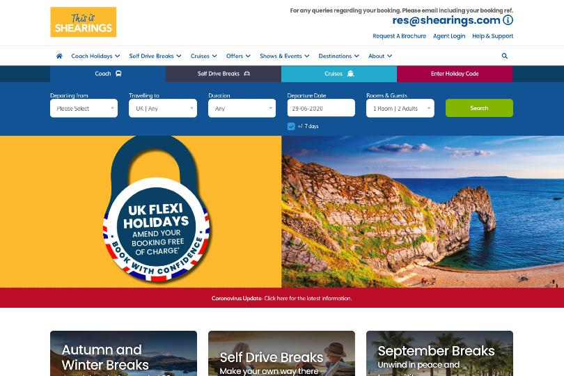 Shearings no longer taking new bookings