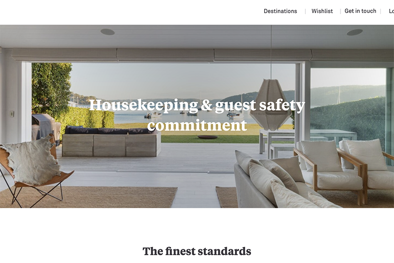 Onefinestay has uploaded a cleaning commitment to its website