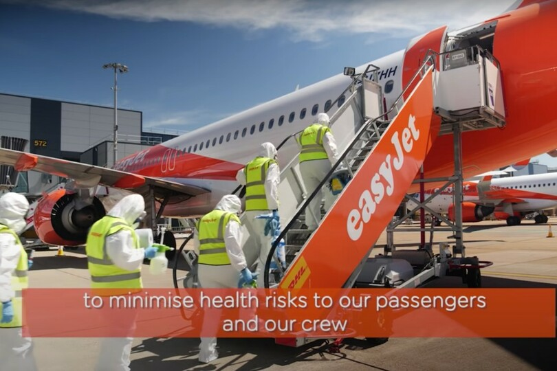 EasyJet is carrying out deep cleaning of aircraft