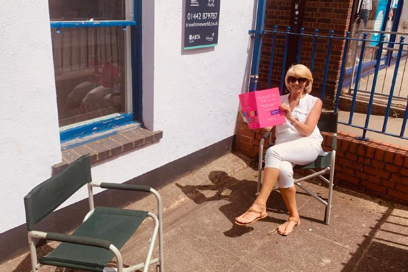 TravelTime World will put its terrace to use for appointments (Pictured: director Jackie Steadman)