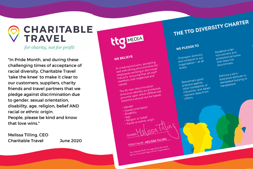 Charitable Travel signs TTG Diversity Charter amid Pride Month launch