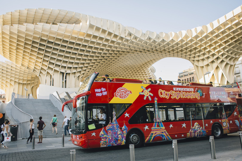 A City Sightseeing bus in Seville