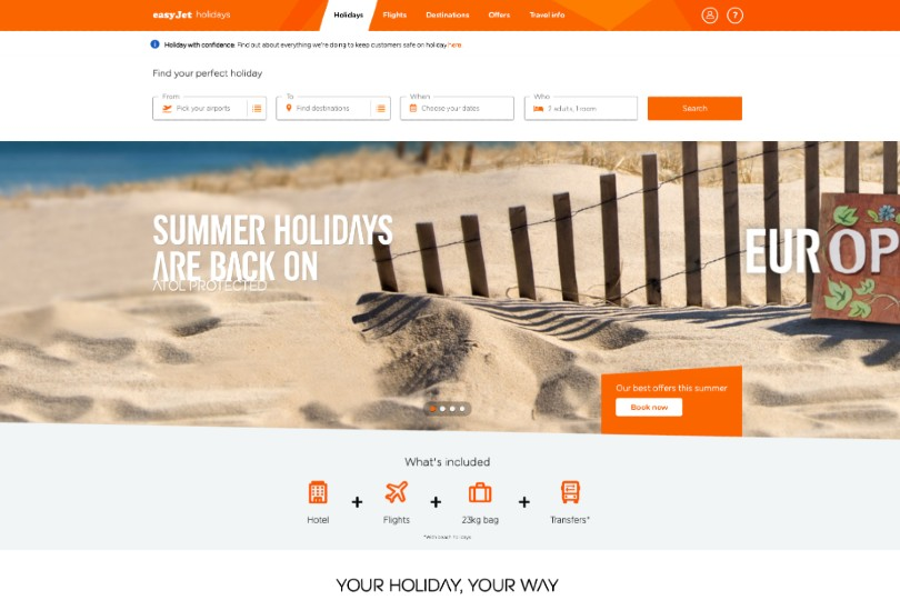 EasyJet Holidays to resume operations next month
