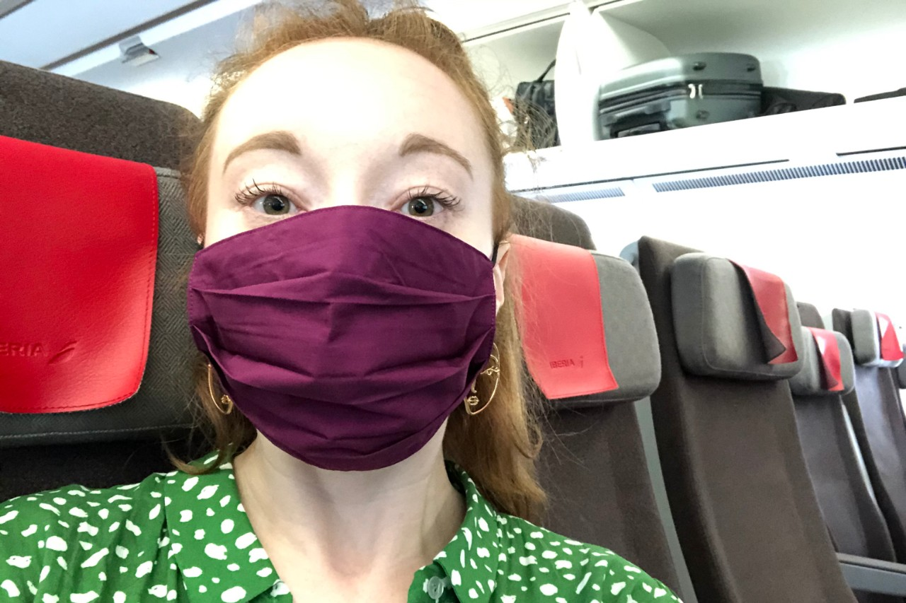 Masks are required to be worn throughout the airport and on the flight