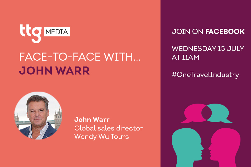 Wendy Wu Tours' John Warr to join TTG Face To Face
