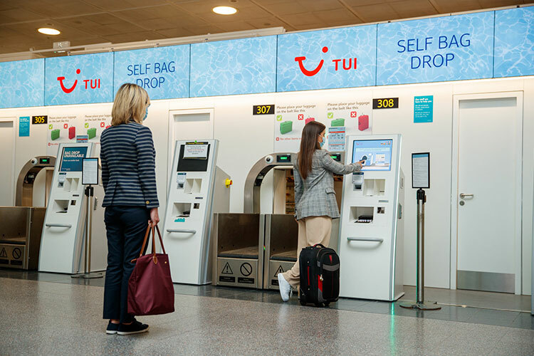 Airlines including Tui have introduced measures such as Covid-safe airport bag drop