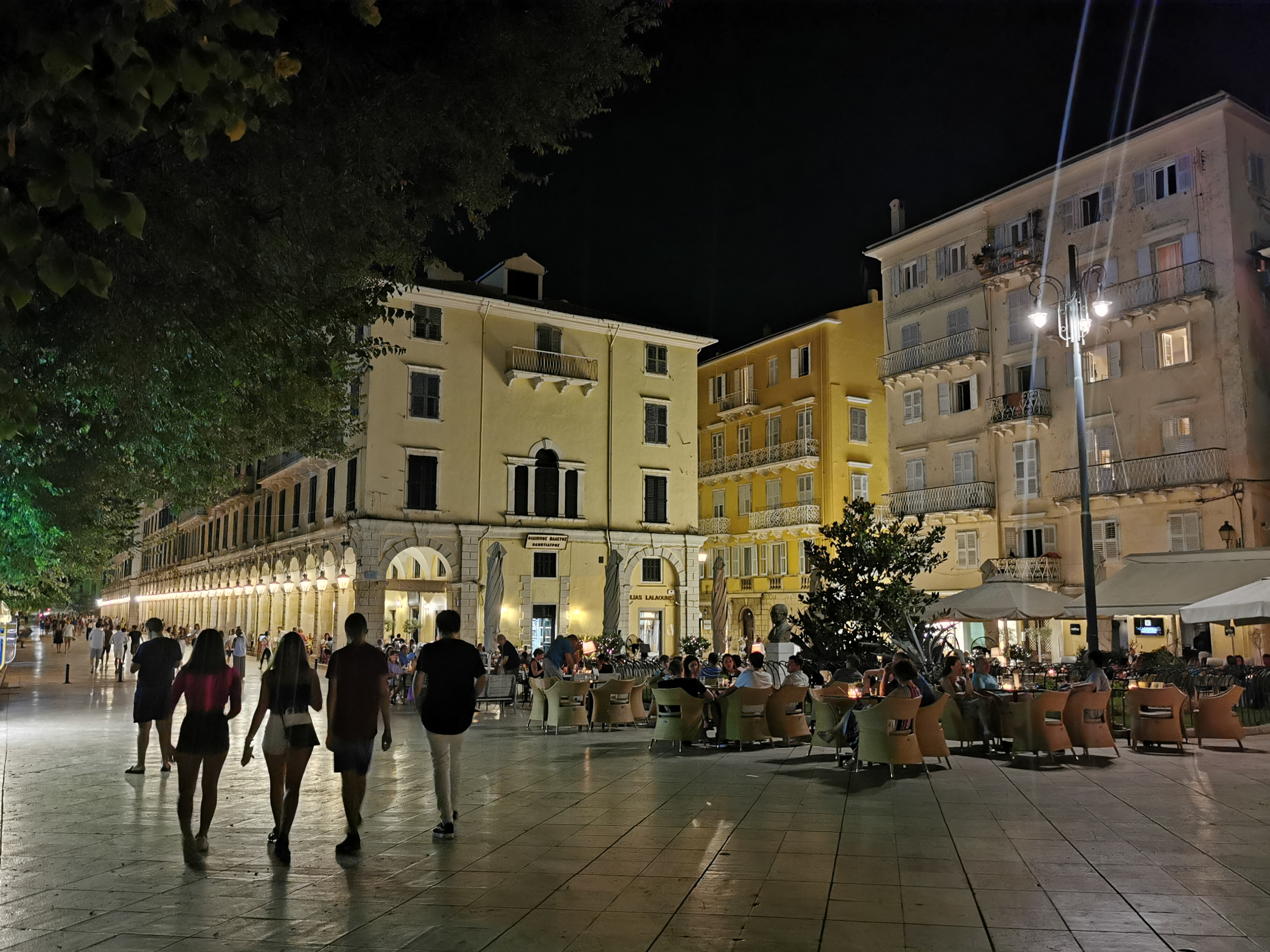 Corfu Town was lively and open for business