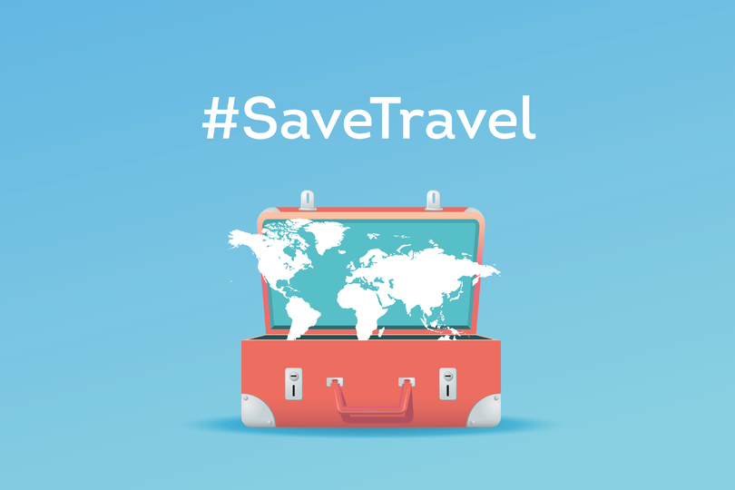 Here's how you can support the #SaveTravel campaign