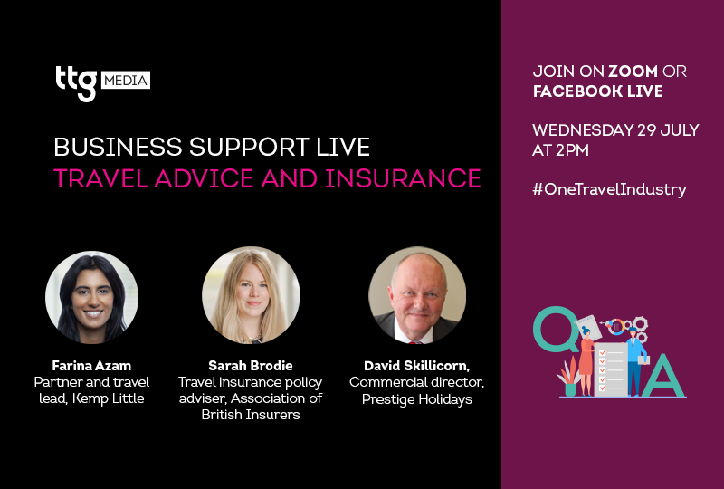 Travel restrictions and insurance focus of TTG's next Business Support Live