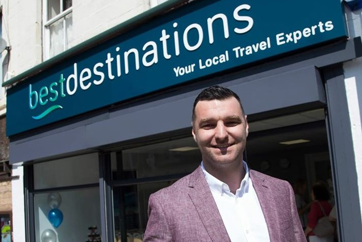 Jon Haworth in happier times - opening Best Destinations in 2017