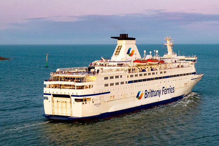 Brittany Ferries' Bretagne is one of the ships to be parked