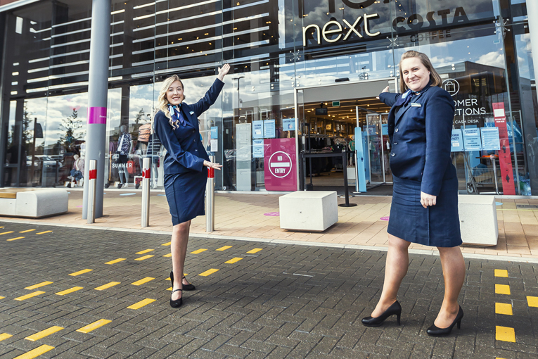 Rushden store manager Alex Bayes, left, with travel consultant Ellie Price outside the new concession.