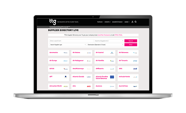 TTG Suppliers Directory Live