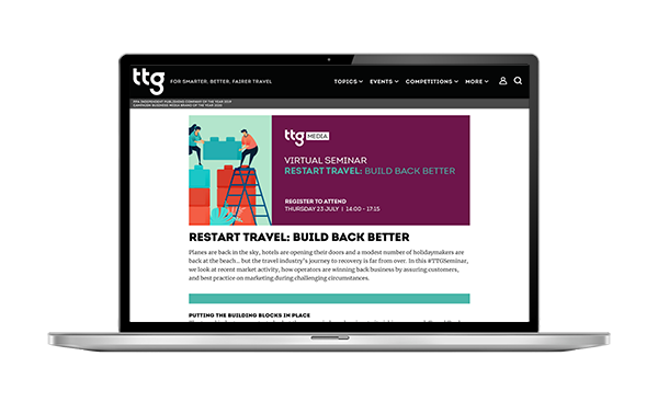 TTG+ online events