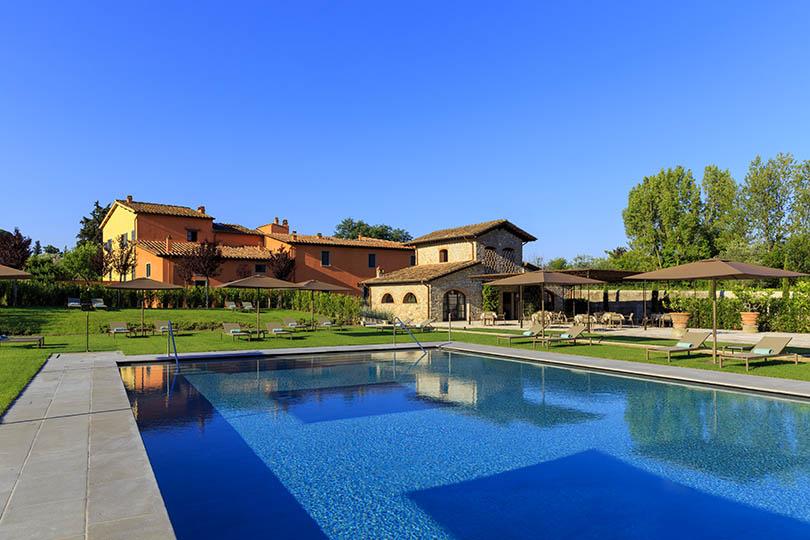 The new L'Oliveto Bisto and pool at Villa La Massa