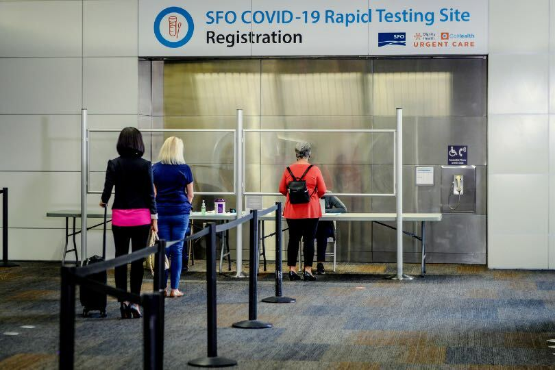 United Airlines is to offer 15-minute Covid-19 tests at San Francisco airport from next month