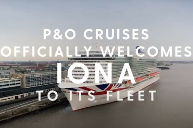 Watch: P&O Cruises takes delivery of Iona