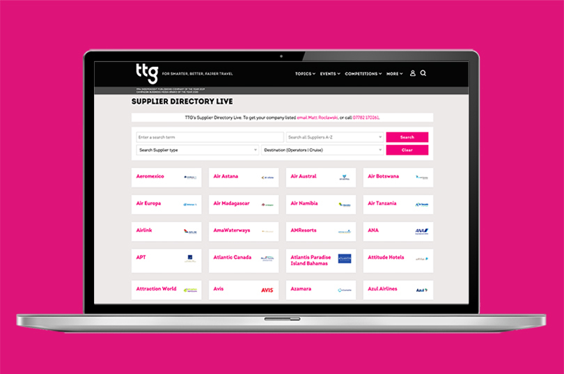 TTG Supplier Directory hits 100+ tour operators