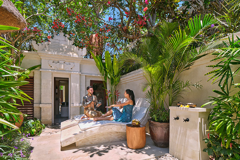 The spa's Longevity Garden