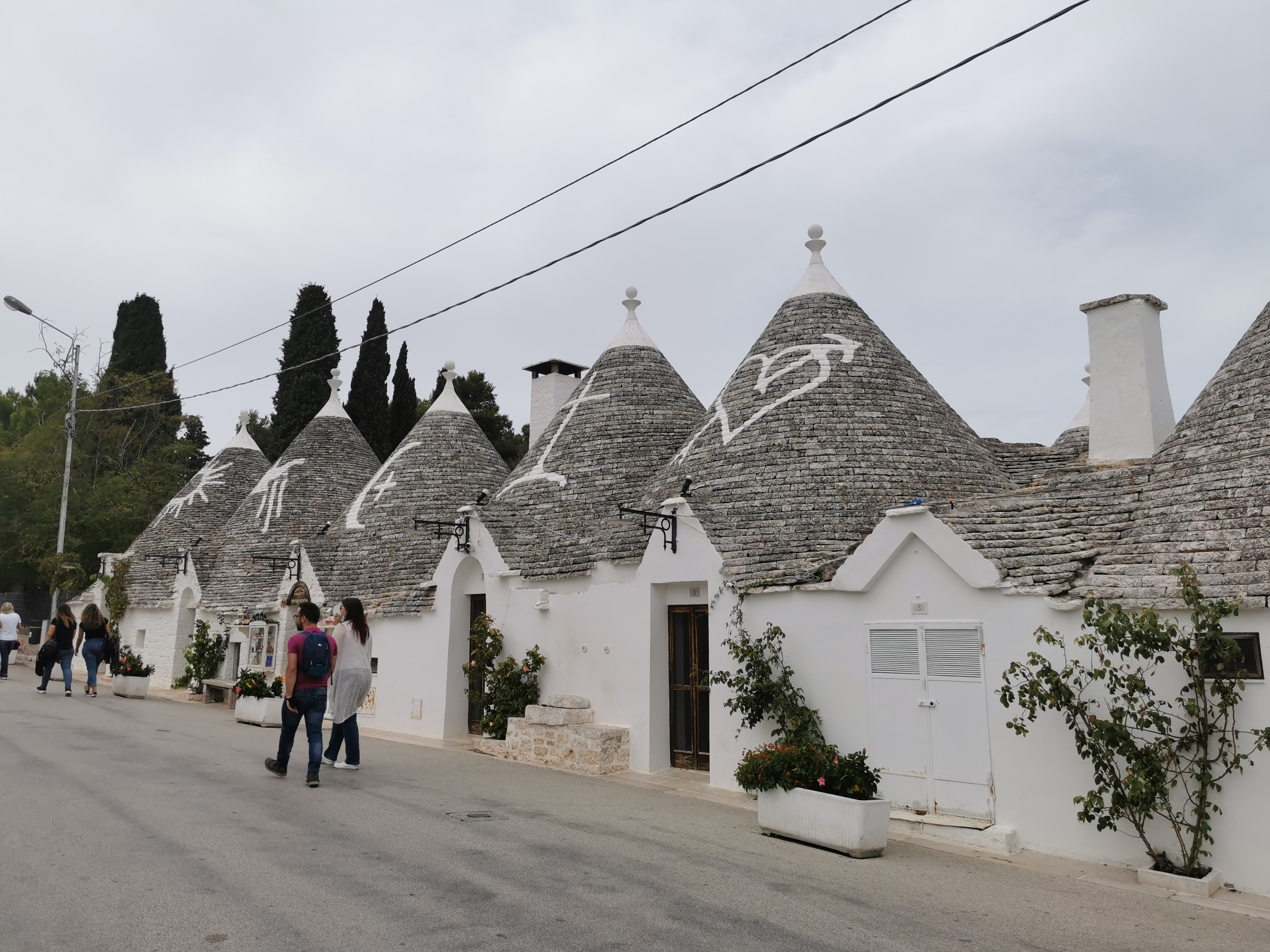 The trulli of Alberobello – stone huts with conical roofs