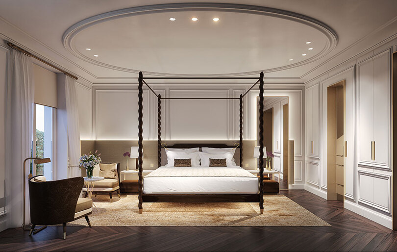 A deluxe room at the Mandarin Oriental Ritz Madrid