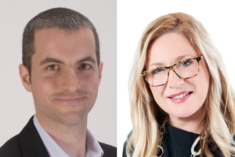Traveltrust MD Noah Meyerson and Focus Travel Partnership chief Abby Penston