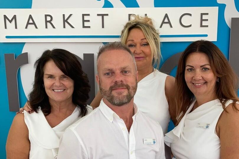The Market Place Travel team: Karen Brown, Mark Lomas, Sonia Edwards and Kate Brandrick