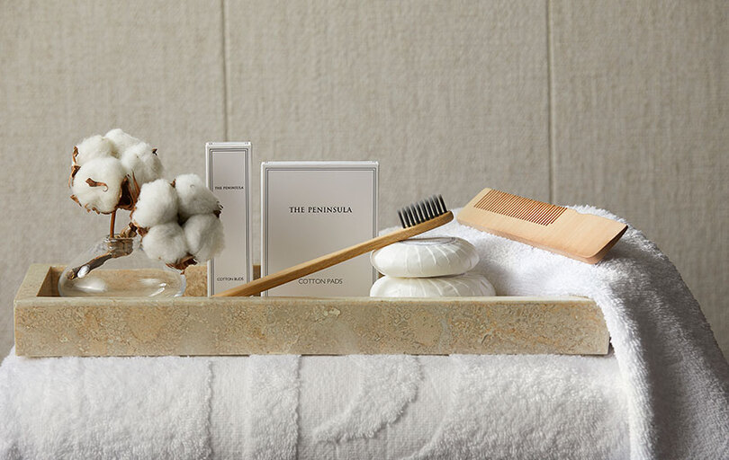 New bathroom amenities are bespoke to each location and sustainable