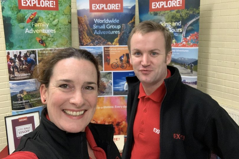 Explore's Philippa Baines and Nick Hindle will be on hand to assist (Credit: explore.co.uk/travel-agents/bdm)