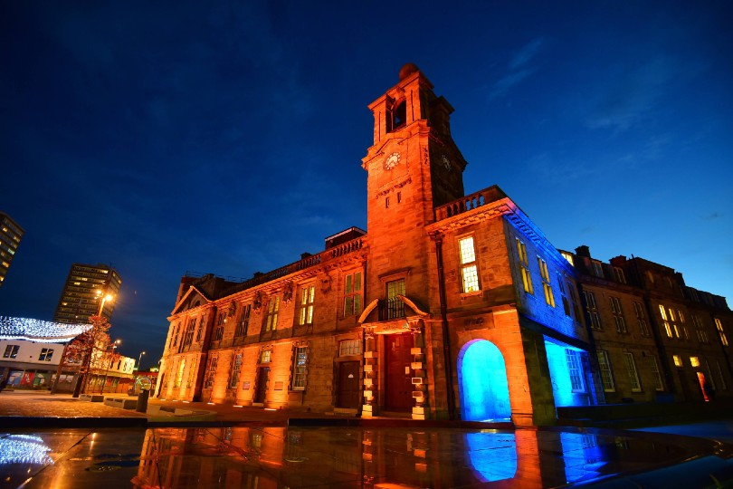See Sunderland lit up in blue and orange for John Hays