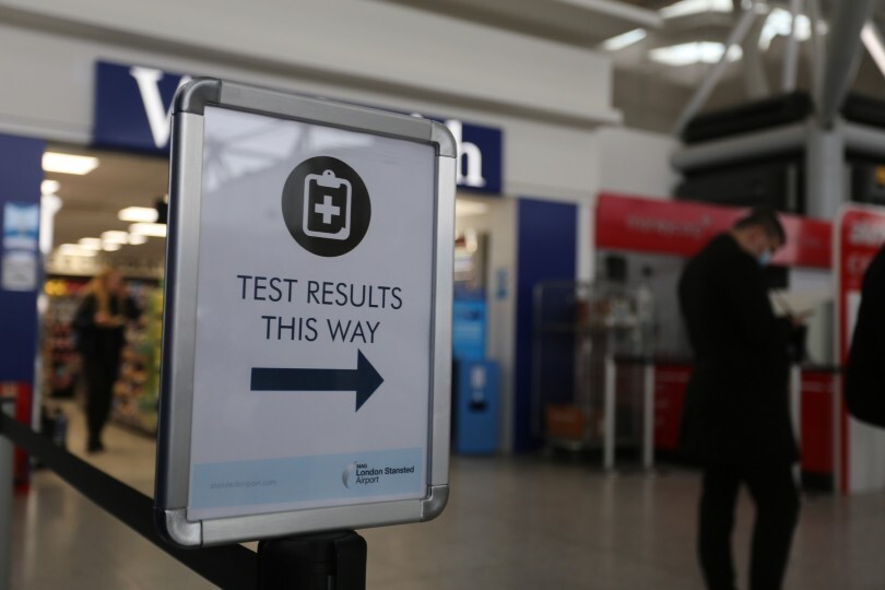 Several UK airports have testing facilities, but the government is understood to be exploring a pre-travel test requirement