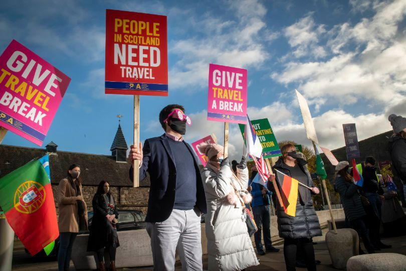 Scotland's travel sector takes protest to Holyrood