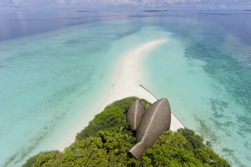 Dhigali sandbank, the Maldives