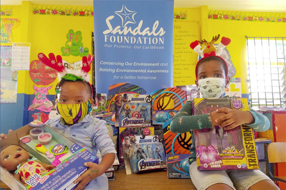 Sandals has distributed nearly 11,000 donations