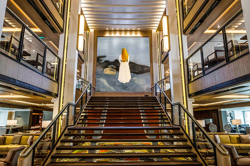 Munch's works feature on many of Viking's ships