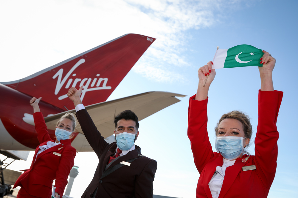Virgin's inaugural Manchester to Islamabad service