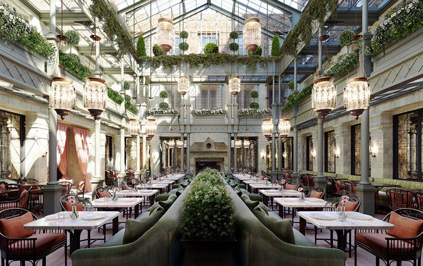 The impressive atrium at NoMad London (credit:Roman and Williams)