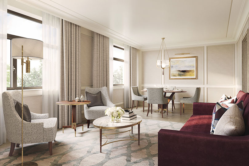A suite at the new-look Carlton Tower