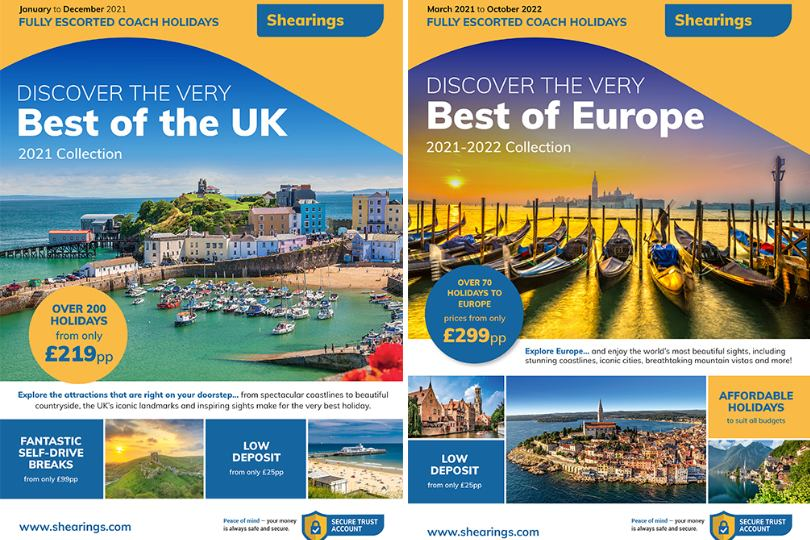 Shearings launches new UK and Europe brochures